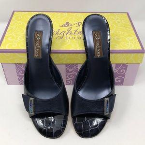 Brighton Keel Sapphire Metallic Heels